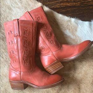 Frye Austin cut-out boots riding cowboy biker